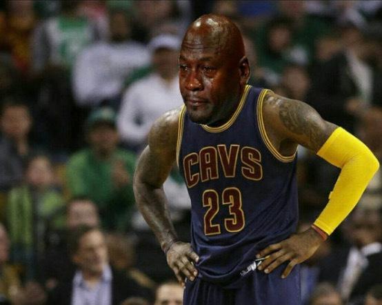 LeBron Crying Jordan