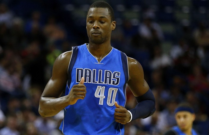 NEW ORLEANS, LA - MARCH 29:  Harrison Barnes #40 of the Dallas Mavericks reacts during a game against the New Orleans Pelicans at the Smoothie King Center on March 29, 2017 in New Orleans, Louisiana. NOTE TO USER: User expressly acknowledges and agrees that, by downloading and or using this photograph, User is consenting to the terms and conditions of the Getty Images License Agreement.  (Photo by Jonathan Bachman/Getty Images)